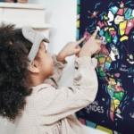 map monde enfants bleu