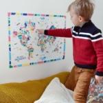 La carte du monde pour enfant