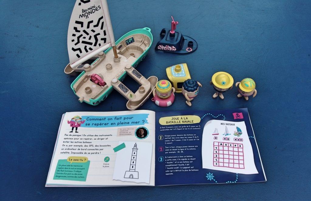 Les mini mondes - Jouets en plastique recyclé - Made in France - Maxi bateau