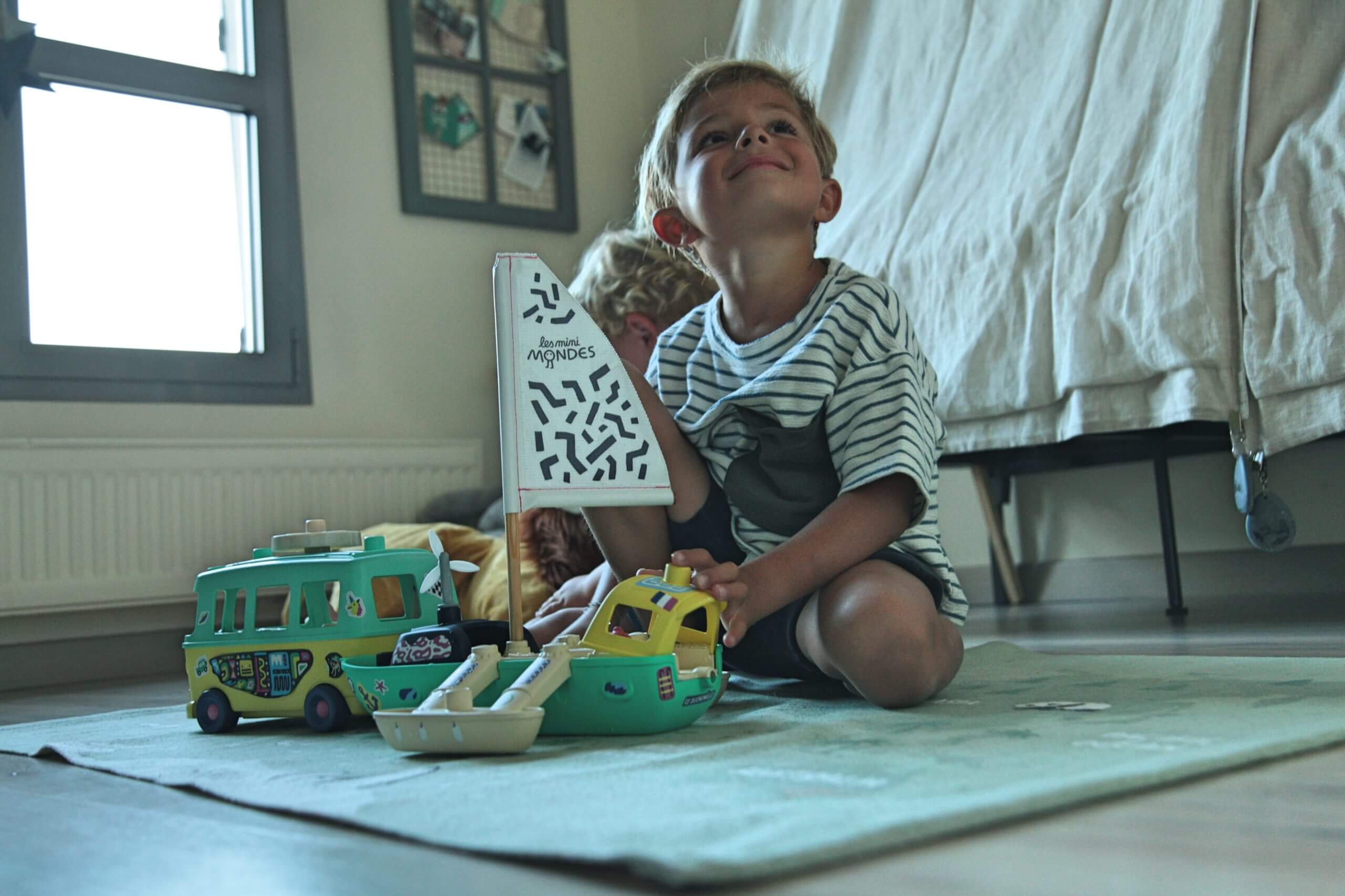 Jouets écoresponsables bateau pour enfant dès 2 ans