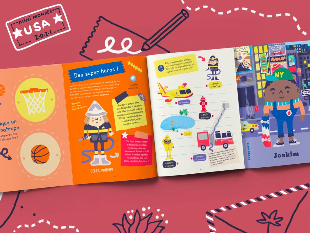 Magazines enfants sur les USA dès 2 ans