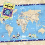 La carte du monde pliable pour les enfants dès 4 ans