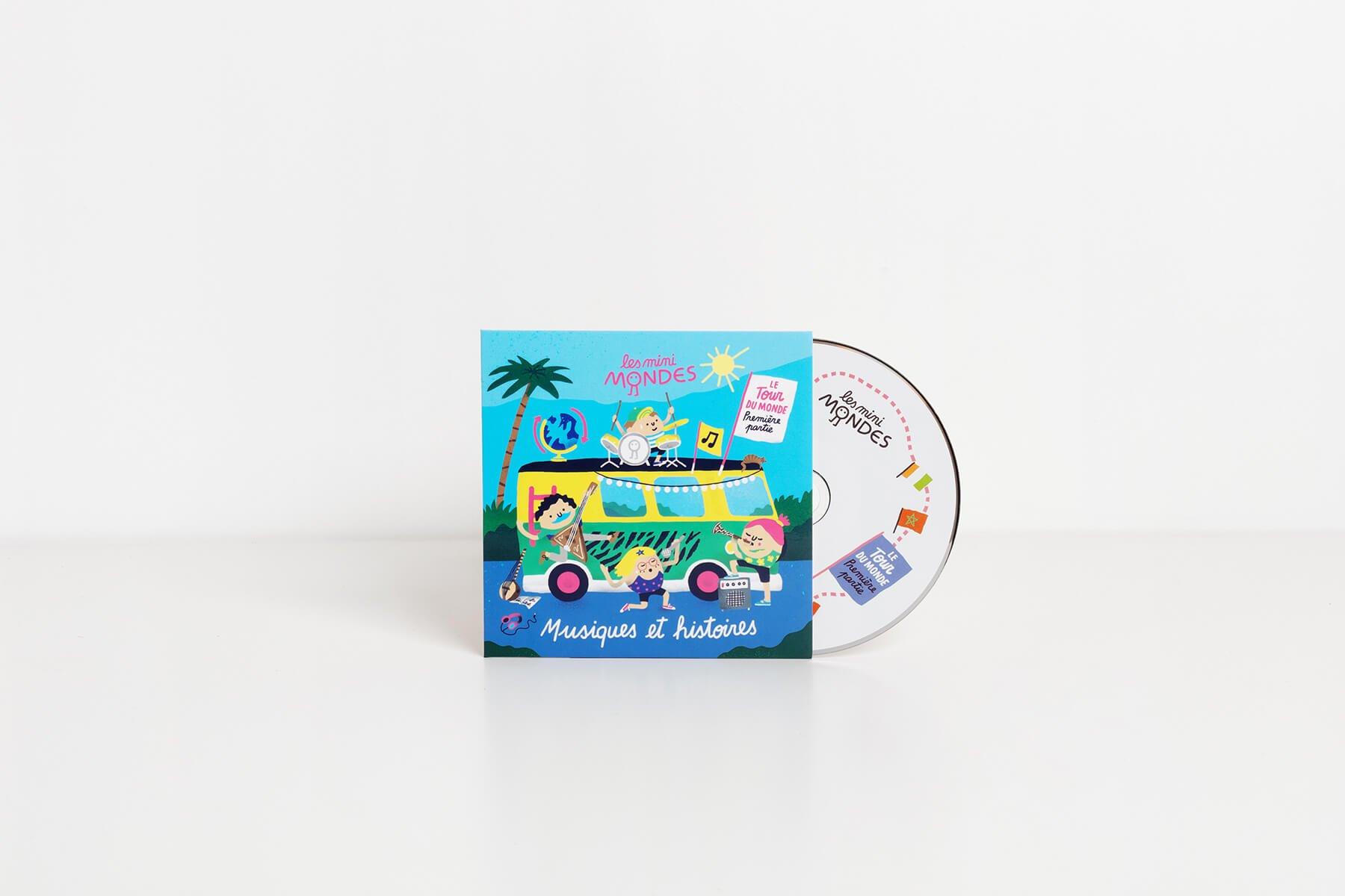 Les musiques des Mini Mondes sur un CD