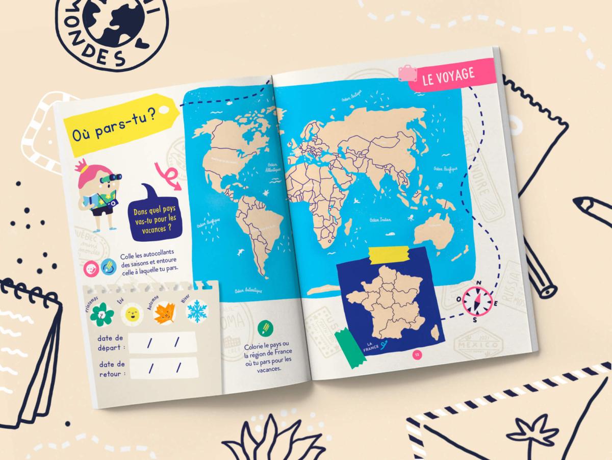 Une immersion complète de votre enfant dans le pays visité grâce au carnet personnalisable