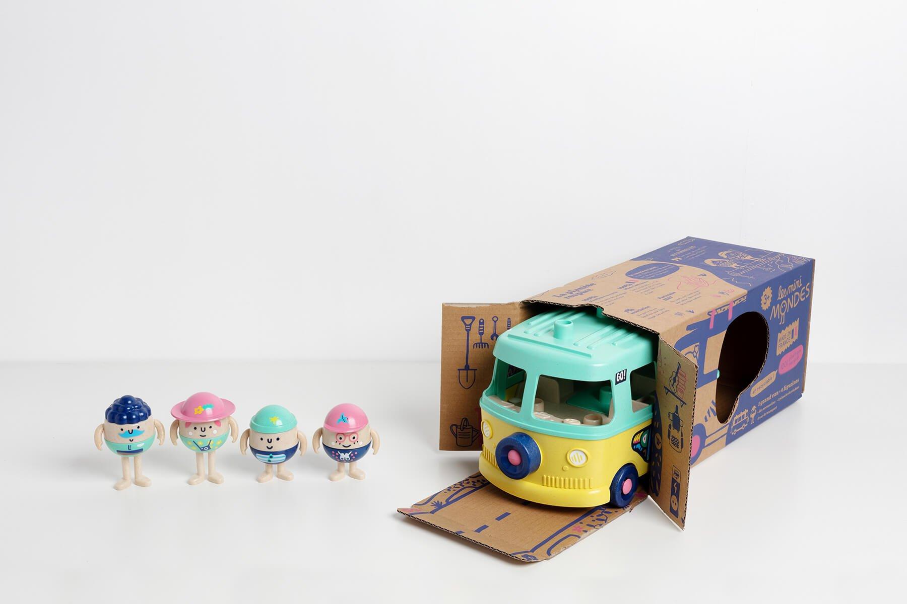 Jouet en plastique recyclé - Le van, notre jouet made in France